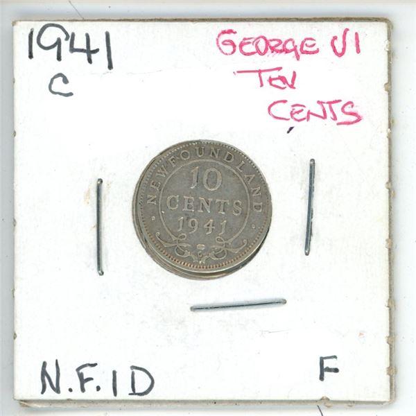 1941 C George VI ¢10 Newfoundland F