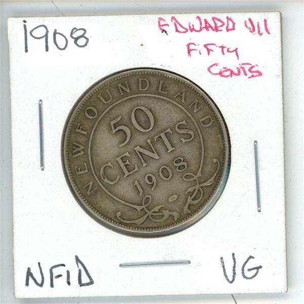 1908 Edward VII ¢50 Newfoundland VG