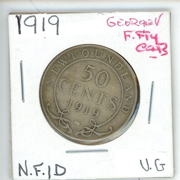 1919 George ¢50 Newfoundland Vg