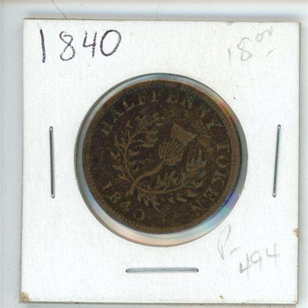 1840 Half Penny Nova Scotia