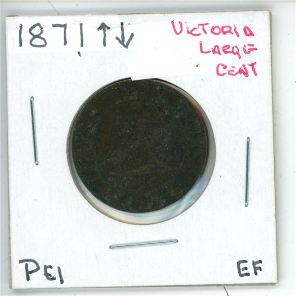 1871 Victoria Large Cent PEI  EF
