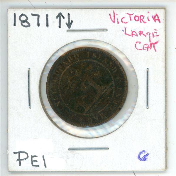 1871 Victoria Large Cent PEI G