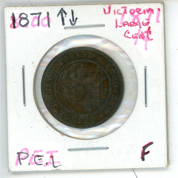 1871 Victoria Large Cent PEI F