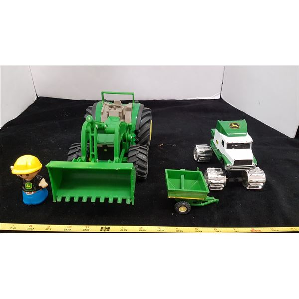 John Deere Toy Tractor & Misc. Toys