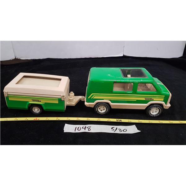 Vintage Tonka Van & Camper Trailer
