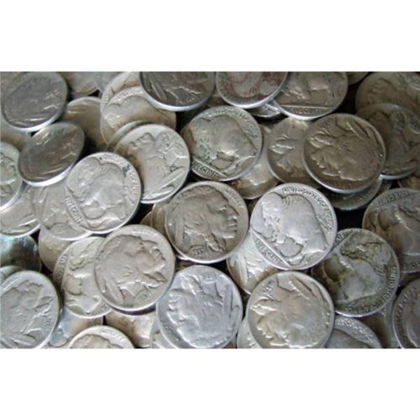 532 pcs. Mixed Date and Grade Buffalo Nickels