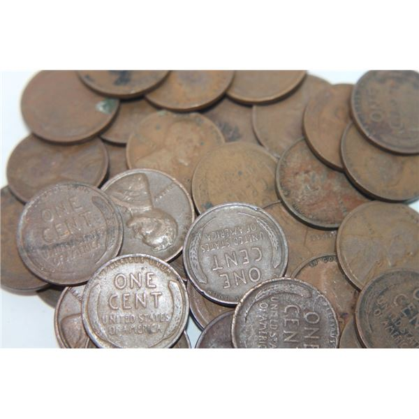 50 pcs. TEENS Lincoln Wheat Cents