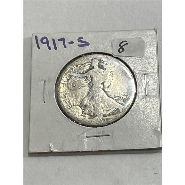 1917 s Key Date Walking Liberty Half Dollar