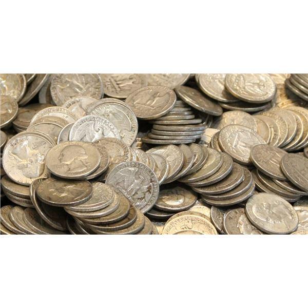 $10 Face Value Washington Quarters