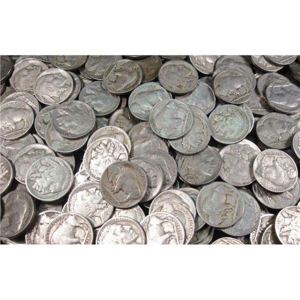 100 pcs. Buffalo Nickels