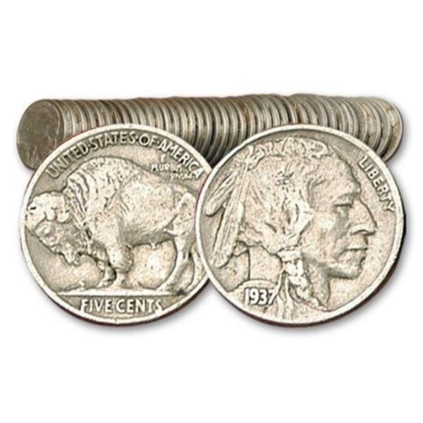 Roll of Full Date Buffalo Nickels