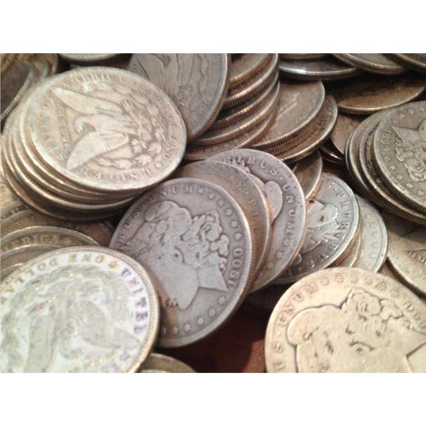 Lot of 100 Morgan Silver Dollars from Photo