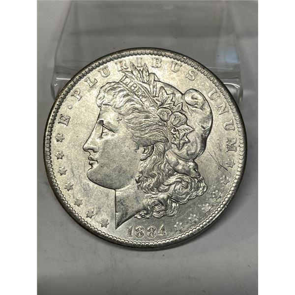1884 o Crisp BU Morgan Dollar