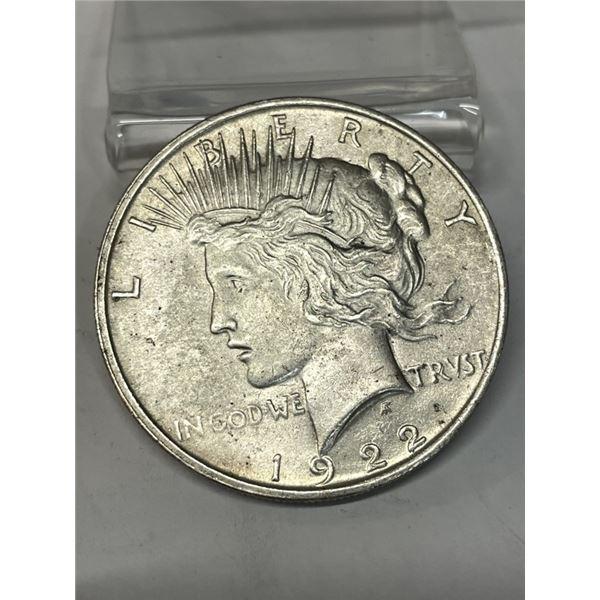 1922 Peace Silver Dollar AU Grade
