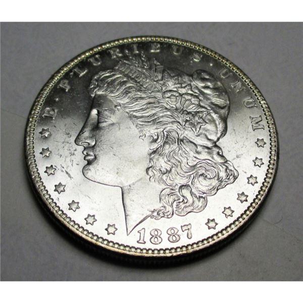 1887 BU Grade Morgan Silver Dollar