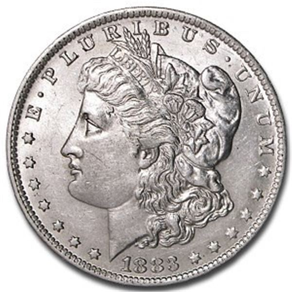 1883 o Crisp BU Morgan Silver Dollar