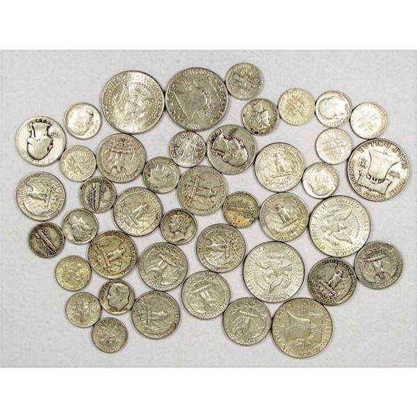 $10 Face Value Mixed Type Silver Coins