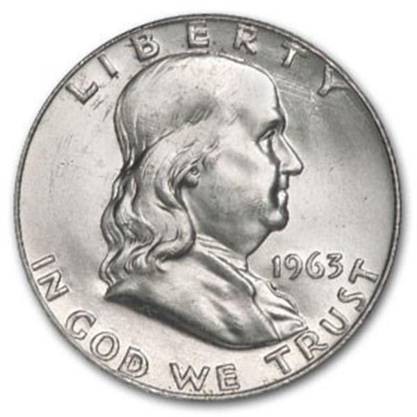 1963 BU Grade Franklin Half Dollar