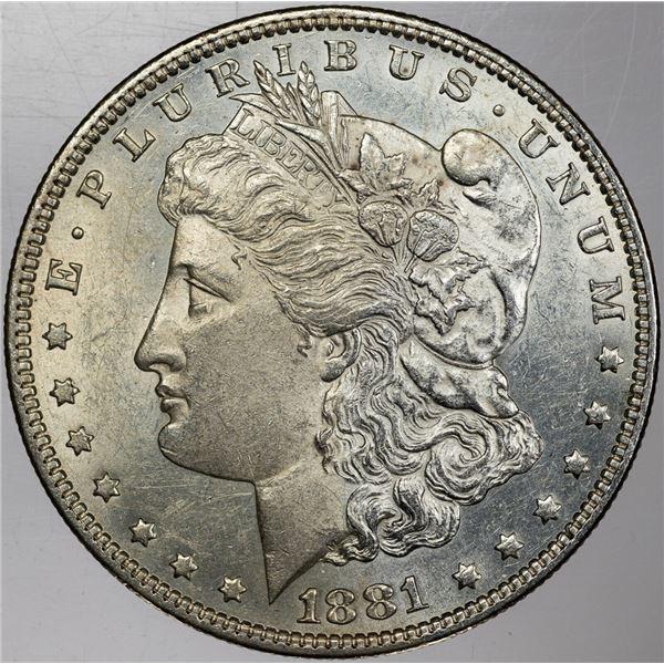 1881 p Better Date in Grade BU Morgan Dollar