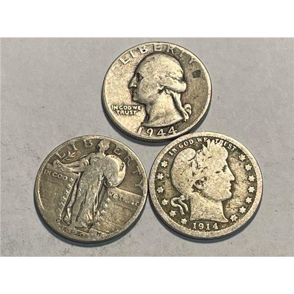 (3) Type Set Quarters - SL-Barber-Wash