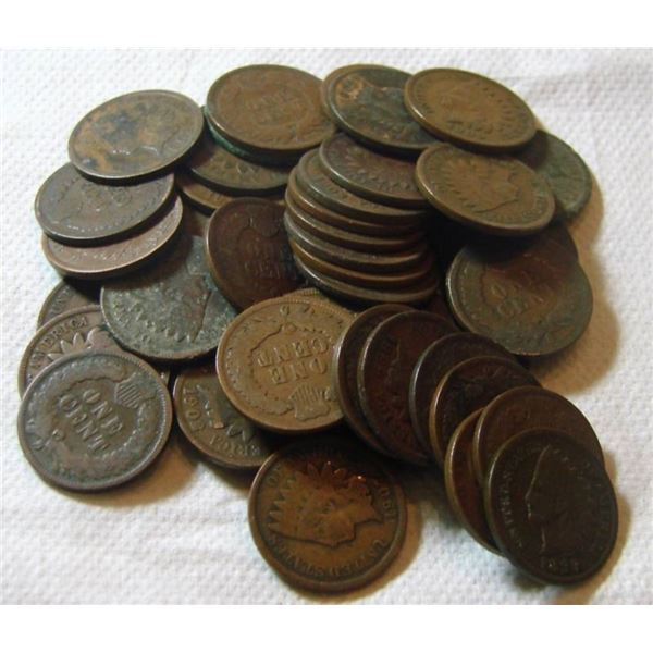 Lot of 50 Indian Head Cents - ag-g