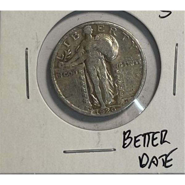 1926 s Better Date Standing Libert Quarter
