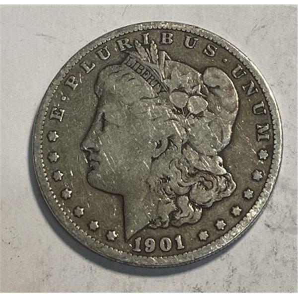 1901 o Better Date Morgan Silver Dollar