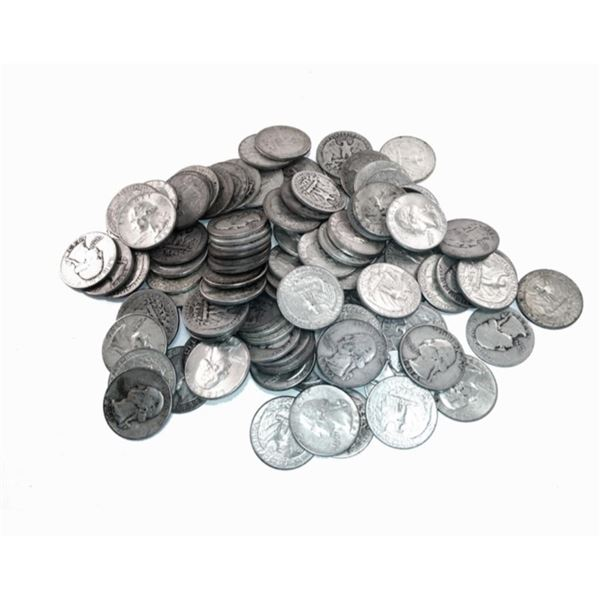 (50) Washington Quarters 90% Silver