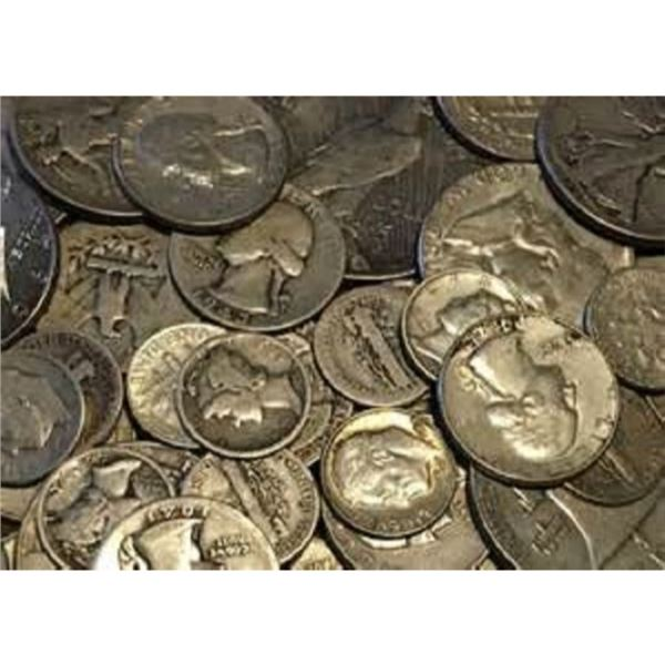 $10 Face Value 90% Silver Coinage Mixed