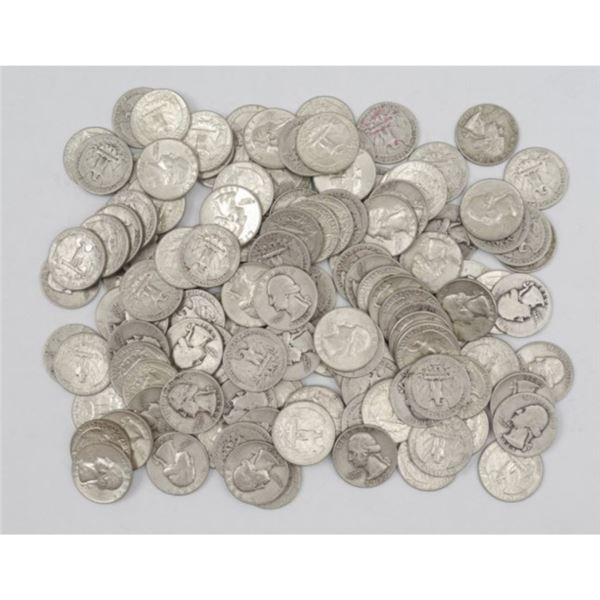 (100) Washington Quarters -90% Silver