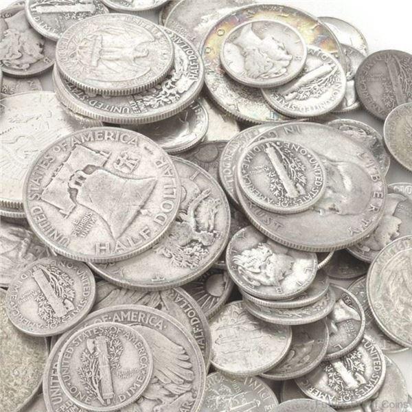$10 Face Value -90% Silver Coins Mixed