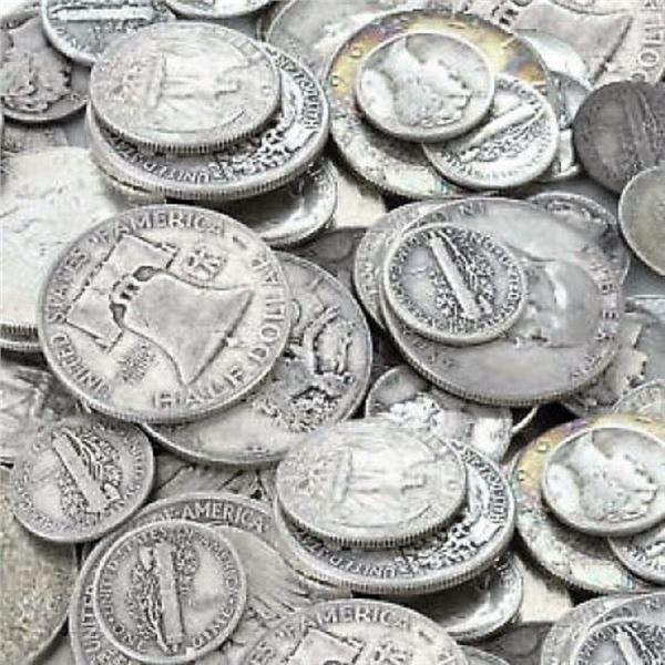 $10 Face Value -90% Silver Mixed Coins