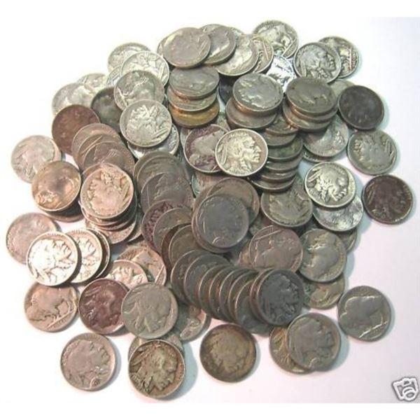 (100) Full Date Buffalo Nickels