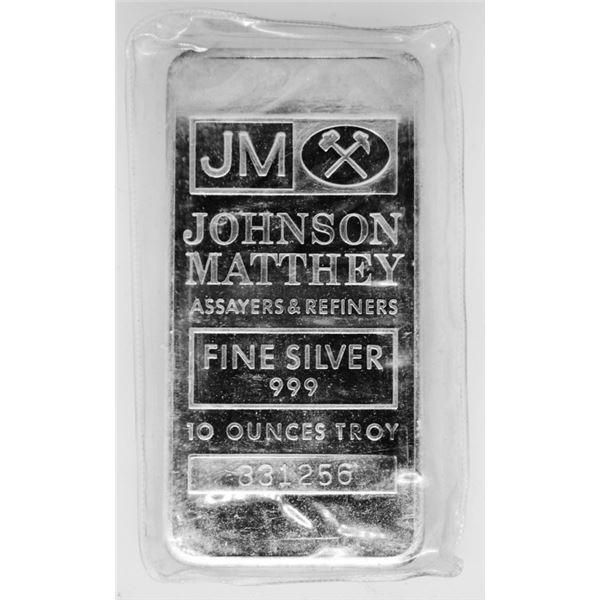 10 oz. Collectible JM Maker Silver Bar