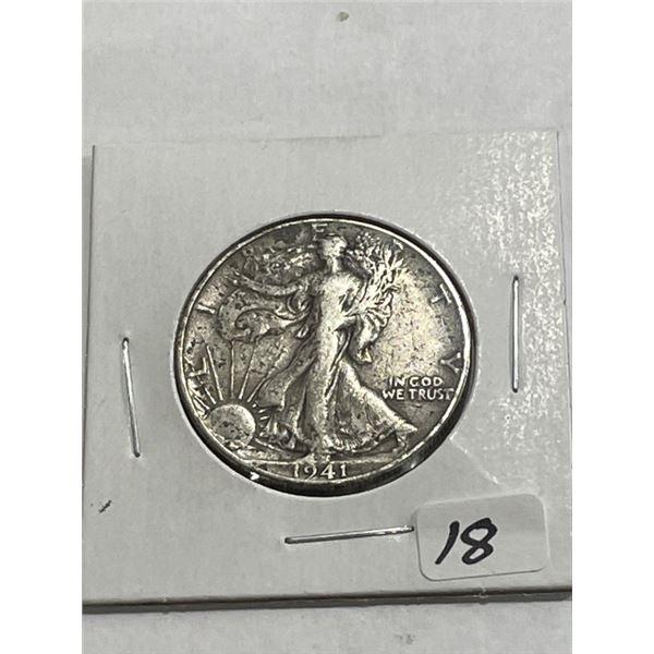 1941 XF AU Grade Walking Liberty Half Dollar