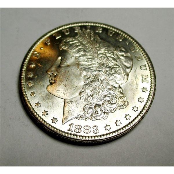 1883 Carson City CH BU Morgan Silver Dollar KEY
