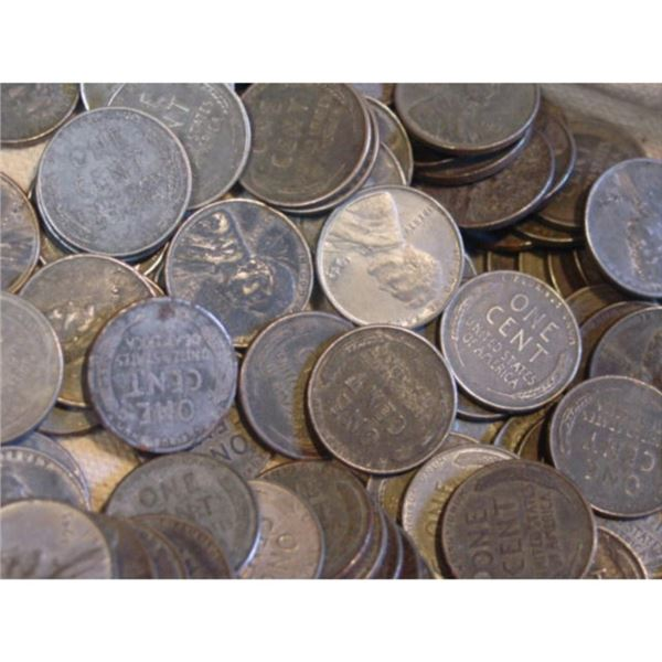 (100) Steel cents - WWII