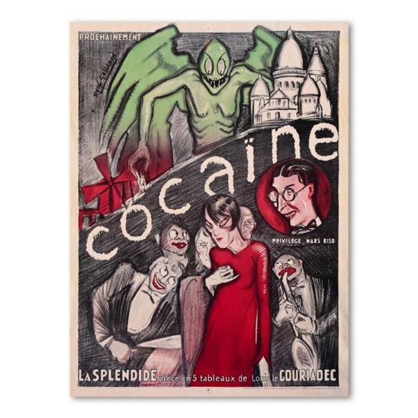 "Rene Gaillard, ""Cocaine"" Reproduction Lithograph."