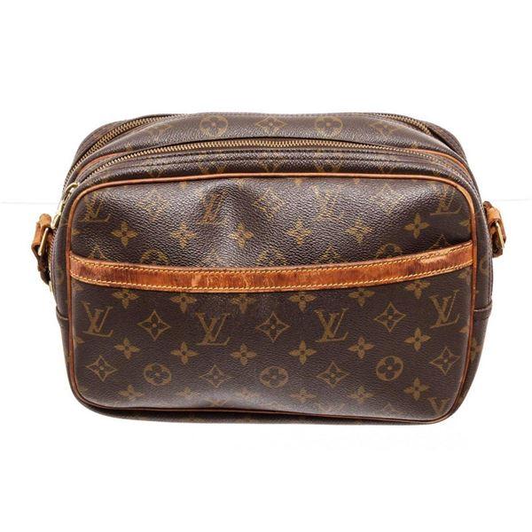 Louis Vuitton Brown Monogram Reporter PM Crossbody Bag