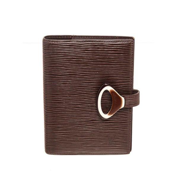 Louis Vuitton Brown Epi Leather Agenda PM Wallet
