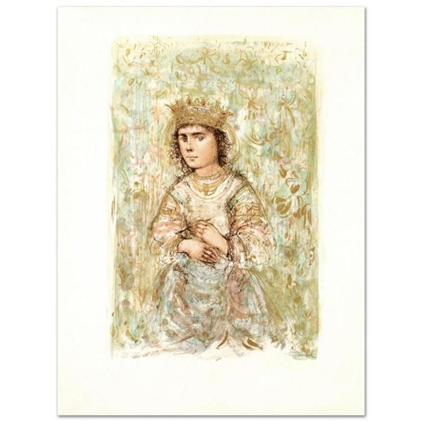 """""""Zorina"""" Limited Edition Lithograph by Edna Hibel, Numbered and Hand Signed with"""