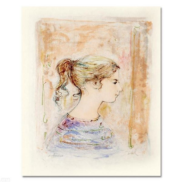 """""""Sami #11"""" Limited Edition Lithograph by Edna Hibel, Numbered and Hand Signed wi"""