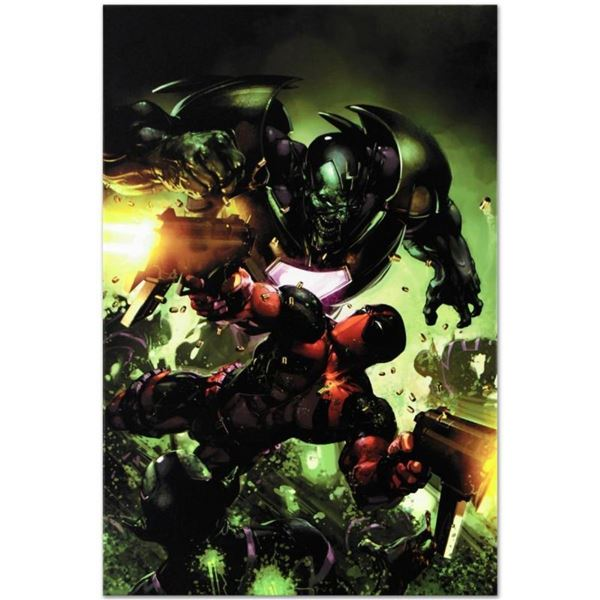 """Marvel Comics """"Deadpool #3"""" Numbered Limited Edition Giclee on Canvas by Clayton"""