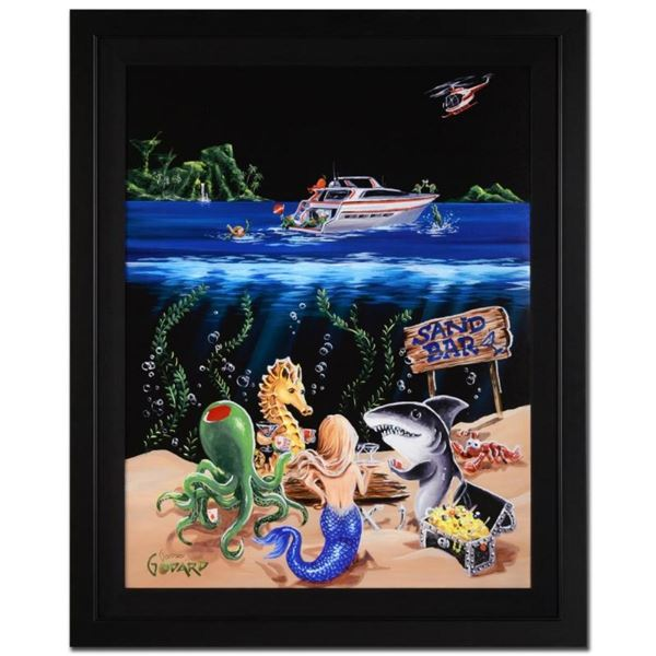 """Michael Godard, """"Sand Bar I"""" Framed Limited Edition on Canvas, Numbered and Sign"""