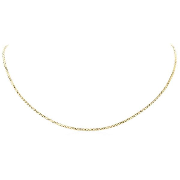 18 Inch Rounded Popcorn Link Chain - 14KT Yellow Gold