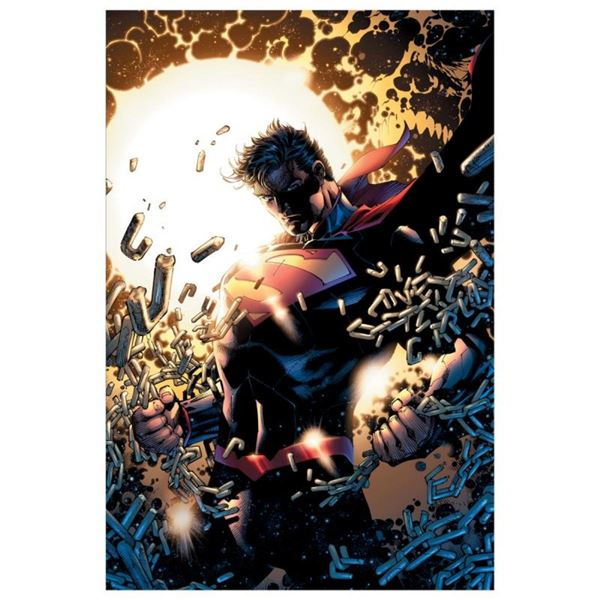 """DC Comics, """"Superman Unchained"""" Numbered Limited Edition Giclee on Canvas by Jim"""