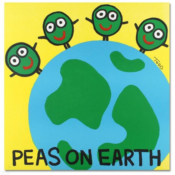 """""""Peas on Earth"""" Limited Edition Lithograph by Todd Goldman, Numbered and Hand Si"""