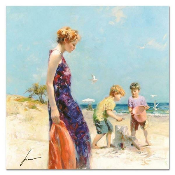 """Pino (1939-2010), """"Good Ole Days"""" Artist Embellished Limited Edition on Canvas,"""