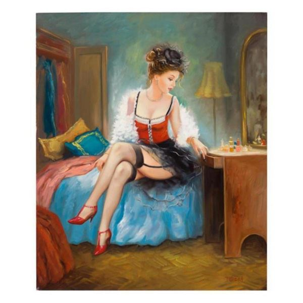 """Taras Sidan, """"Mademoiselle"""" Hand Signed Limited Edition Giclee on Canvas with Le"""
