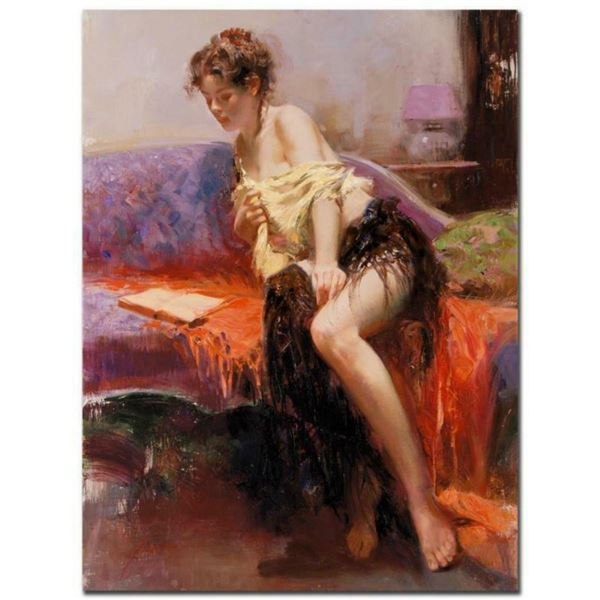 """Pino (1939-2010), """"After Midnight"""" Artist Embellished Limited Edition on Canvas"""